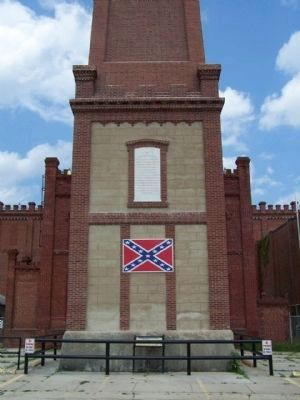 Confederate Obelisk-Chimney Marker, west side image. Click for full size.