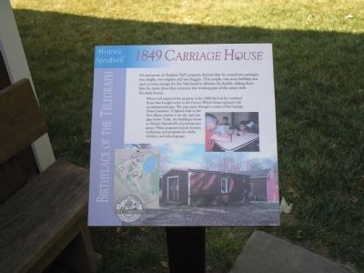 1849 Carriage House Marker image. Click for full size.
