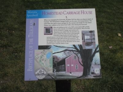 Homestead Carriage House Marker image. Click for full size.
