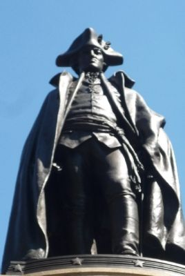 Baron von Steuben - statue by Albert Jaegers, sculptor image. Click for full size.