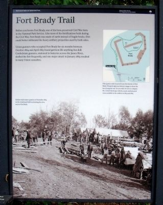 Fort Brady Trail Marker image. Click for full size.