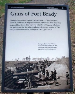 Guns of Fort Brady Marker image. Click for full size.