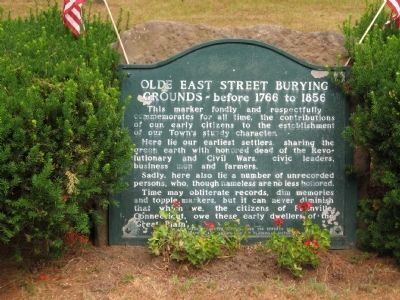 Olde East Street Burying Grounds Marker image. Click for full size.