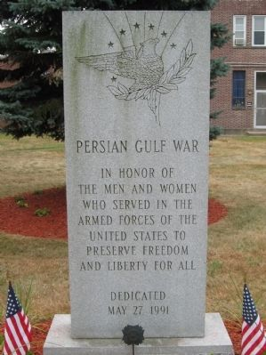 Plainville Persian Gulf War Monument image. Click for full size.