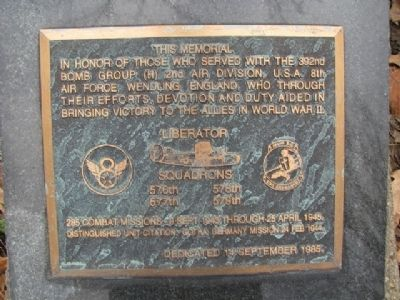 392nd Bomb Group (Heavy) Marker image. Click for full size.