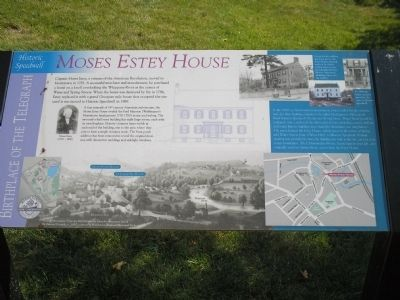 Moses Estey House Marker image. Click for full size.