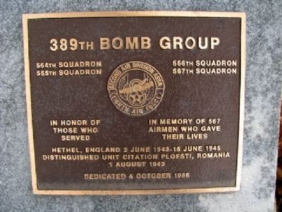 389th Bomb Group Marker image. Click for full size.