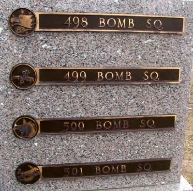 345th Bomb Group Squadron Markers image. Click for full size.