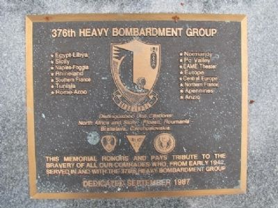 376th Heavy Bombardment Group Marker image. Click for full size.