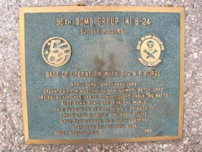 90th Bomb Group (H) B-24 Marker image. Click for full size.