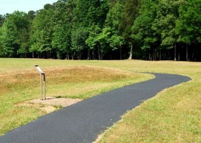 Paved Walking Path Leading to Second Parallel Marker image. Click for full size.