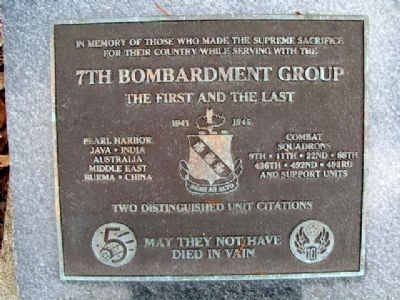 7th Bombardment Group Marker image. Click for full size.