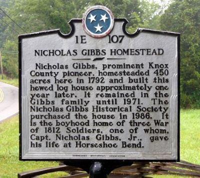 Nicholas Gibbs Homestead Marker image. Click for full size.