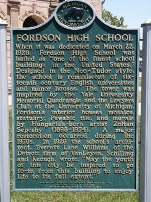 Fordson High School Marker image. Click for full size.