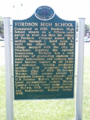 Fordson High School Marker - side 2 image. Click for full size.