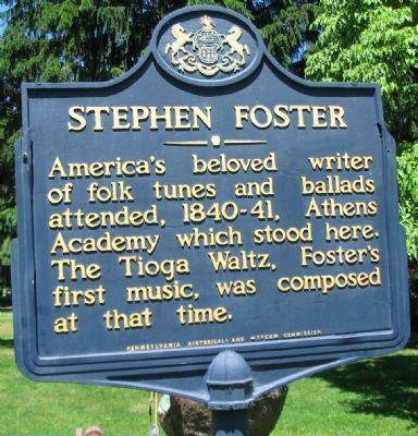 Stephen Foster Marker image. Click for full size.