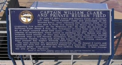 Captain William Clark and Private Reuben Field Marker image. Click for full size.