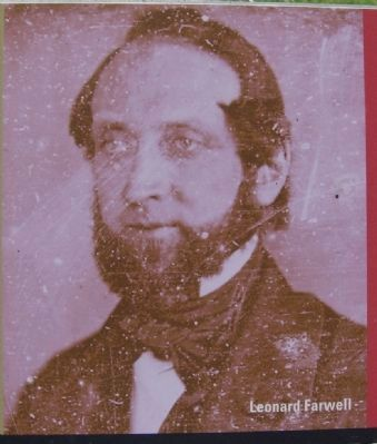 Closeup of photo of Leonard Farwell on marker image. Click for full size.