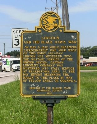 Lincoln and the Black Hawk War Marker image. Click for full size.