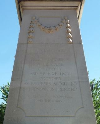 Rochambeau Memorial - inscription on north face image. Click for full size.