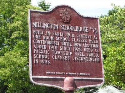 Millington Schoolhouse #74 Marker image. Click for full size.
