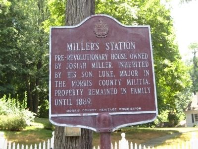 Miller's Station Marker image. Click for full size.