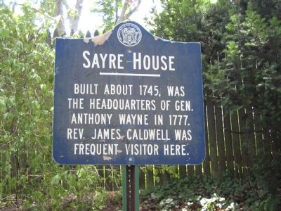 Sayre House Marker image. Click for full size.