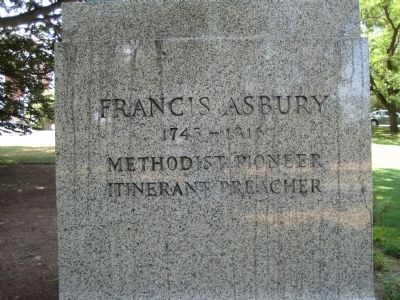 Francis Asbury Monument Inscription image. Click for full size.
