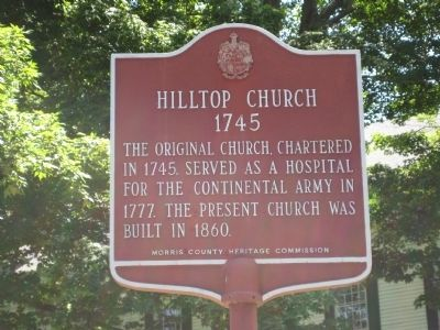 Hilltop Church Marker image. Click for full size.