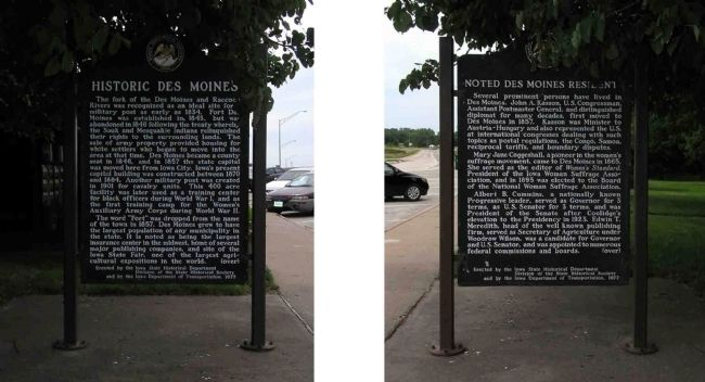 Historic Des Moines / Noted Des Moines Residents Marker image. Click for full size.