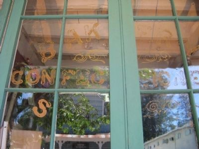 The Heinsdorff Bakery Window image. Click for full size.