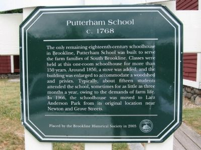 Putterham School Marker image. Click for full size.