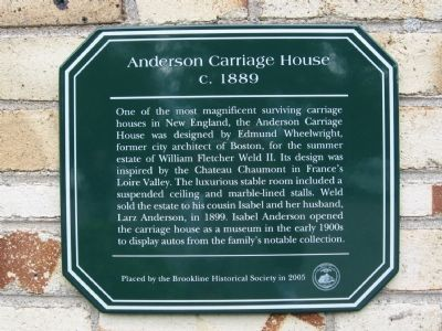 Anderson Carriage House Marker image. Click for full size.