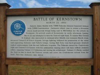 Battle of Kernstown Marker image. Click for full size.