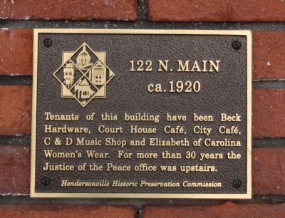122 N. Main Marker image. Click for full size.