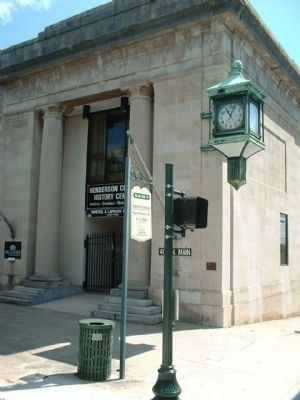 Citizens National Bank Marker and McClintock clock, as mentioned, seen today image. Click for full size.