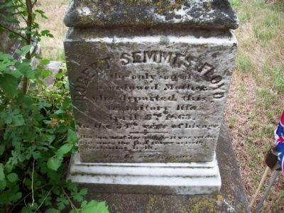 Grave of Robert Semmes Floyd, CSA and brother of Anne Olivia Floyd image. Click for full size.