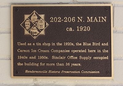 202 - 206 N. Main Marker image. Click for full size.