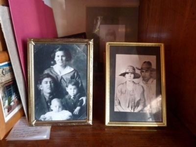 Trujillo Family Photos Displayed in the Trading Post image. Click for full size.