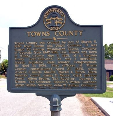 Towns County Marker image. Click for full size.