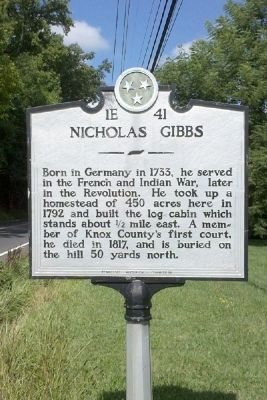 Nicholas Gibbs Marker image. Click for full size.