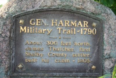 General Harmar Military Trail Marker image. Click for full size.