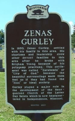 Zenas Gurley Marker image. Click for full size.