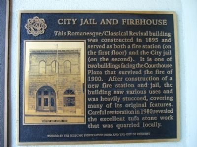 City Jail and Firehouse Marker image. Click for full size.