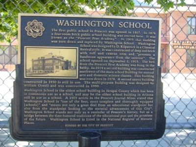 Washington School Marker image. Click for full size.