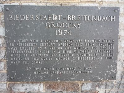 Biederstaedt – Breitenbach Grocery Marker image. Click for full size.