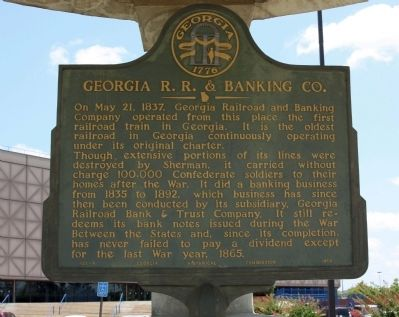 Georgia R.R. & Banking Co. Marker image. Click for full size.