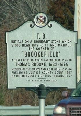 The original T.B. Marker near this site image. Click for more information.