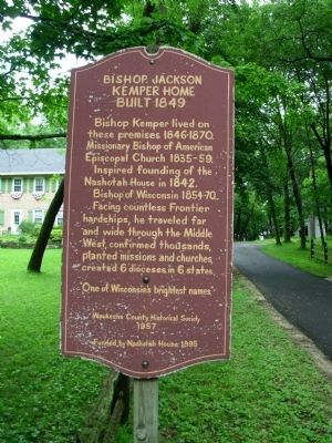 Bishop Jackson Kemper Home Built 1849 Marker image. Click for full size.