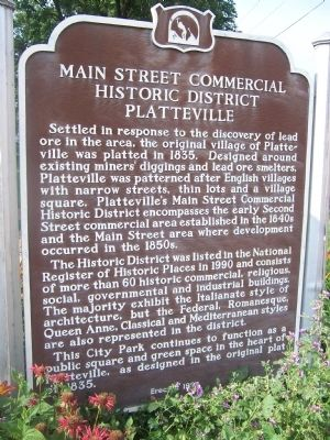 Main Street Commercial Historic District Platteville Marker image. Click for full size.